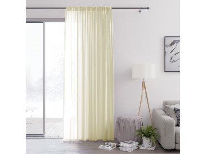 Dekorační záclona s řasící páskou VALIKA smetanová 140x250 cm (cena za 1 kus) MyBestHome