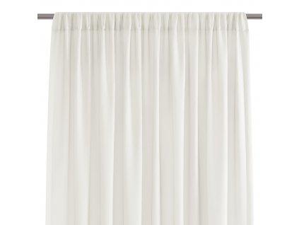 Dekorační krátká záclona s řasící páskou VILMA krémová 250x160 cm nebo 300x160 cm MyBestHome
