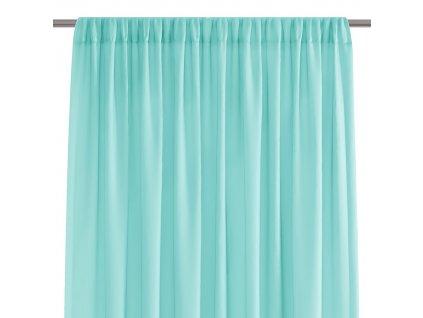 Dekorační krátká záclona s řasící páskou VILMA tyrkysová 250x160 cm nebo 300x160 cm MyBestHome