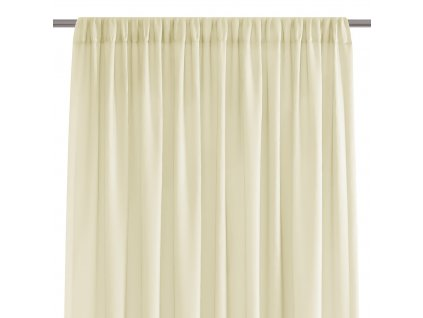 Dekorační krátká záclona s řasící páskou VILMA smetanová 250x160 cm nebo 300x160 cm MyBestHome