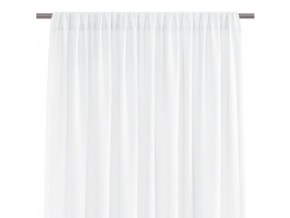 Dekorační krátká záclona s řasící páskou VILMA bílá 250x160 cm nebo 300x160 cm MyBestHome