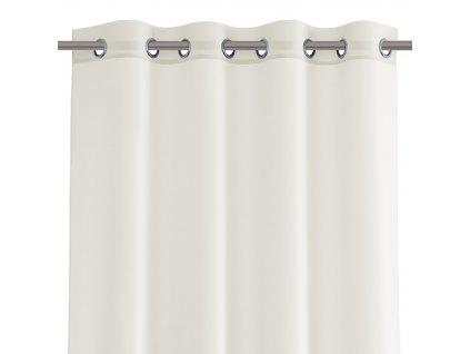 Dekorační krátká záclona s kroužky VIKINA krémová 250x160 cm nebo 300x160 cm MyBestHome