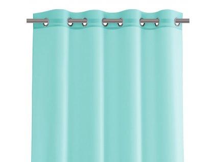 Dekorační krátká záclona s kroužky VIKINA tyrkysová 250x160 cm nebo 300x160 cm MyBestHome