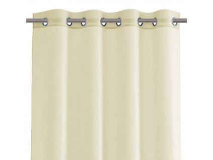 Dekorační krátká záclona s kroužky VIKINA smetanová 250x160 cm nebo 300x160 cm MyBestHome