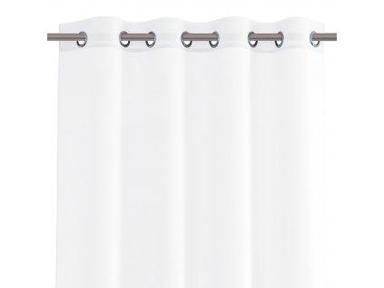 Dekorační krátká záclona s kroužky VIKINA bílá 250x160 cm nebo 300x160 cm MyBestHome