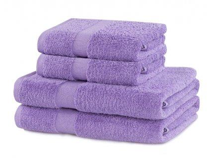 Set 100% bavlna CECIL 2x ručník 50x100 cm a 2x osuška 70x140 cm, lila 525 gr, Mybesthome