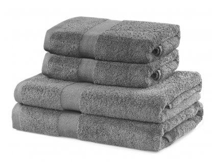 Set 100% bavlna CECIL 2x ručník 50x100 cm a 2x osuška 70x140 cm, stříbrná 525 gr, Mybesthome