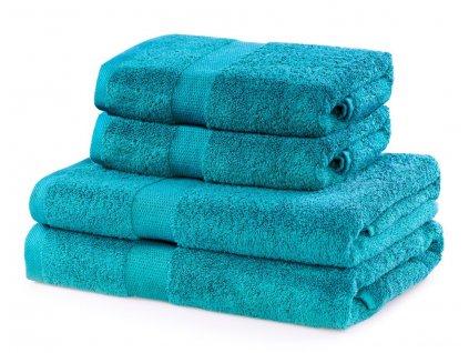 Set 100% bavlna CECIL 2x ručník 50x100 cm a 2x osuška 70x140 cm, tyrkysová 525 gr, Mybesthome