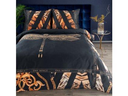 Luxusní povlečení  EVA XXII. 100% saténová bavlna 1x 200x220 cm, 2x povlak 70x80 cm francouzské povlečení