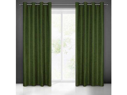 Dekorační závěs s kroužky OLIVIA zelená 1x140x250 cm (cena za 1 kus) MyBestHome