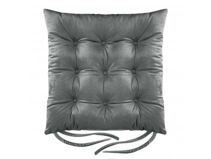 Sedák na židli BORNEO šedá 40x40 cm (cena za 1 kus) Mybesthome