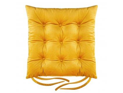 Sedák na židli BORNEO mustard/hořčicová 40x40 cm (cena za 1 kus) Mybesthome