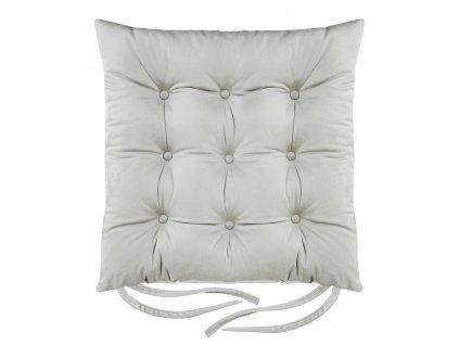 Sedák na židli BORNEO světle šedá 40x40 cm (cena za 1 kus) Mybesthome