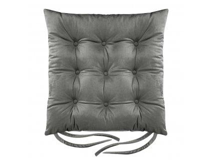 Sedák na židli BORNEO grafitová 40x40 cm (cena za 1 kus) Mybesthome