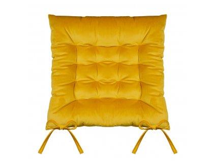Sedák na židli SUMATRA hořčicová/mustard 40x40 cm (cena za 1 kus) Mybesthome
