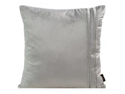 Polštář MINA stříbrná 45x45 cm Mybesthome