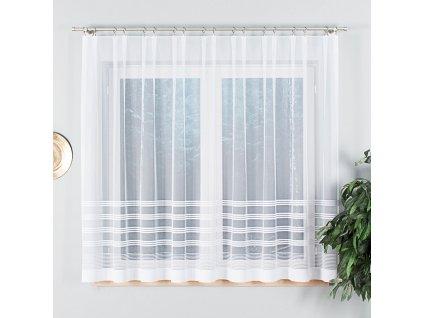 Dekorační vzorovaná záclona BALBINA 160 bílá 300x160 cm MyBestHome