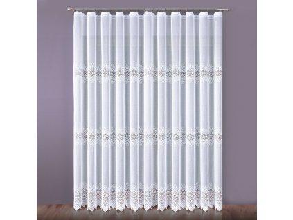 Dekorační žakárová dlouhá záclona na žabky VIOLETTA 200x250 cm (cena za 1 kus) MyBestHome
