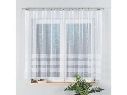 Dekorační vzorovaná záclona MICHALINA 150 bílá 300x150 cm (cena za 1 kus) MyBestHome