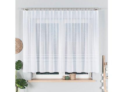 Dekorační vzorovaná záclona ZOJA 140 bílá 300x140 cm (cena za 1 kus) MyBestHome