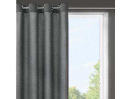 Dekorační krátký závěs s kroužky NIKY tmavě šedá 140x175 cm (cena za 1 kus) MyBestHome