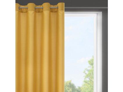 Dekorační krátký závěs s kroužky NIKY mustard/hořčicová 140x175 cm (cena za 1 kus) MyBestHome