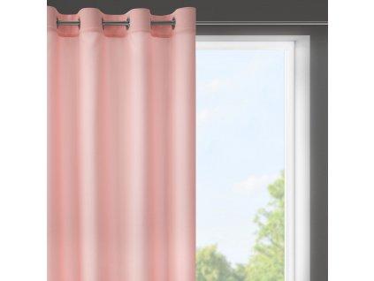 Dekorační krátký závěs s kroužky NIKY růžová 140x175 cm (cena za 1 kus) MyBestHome