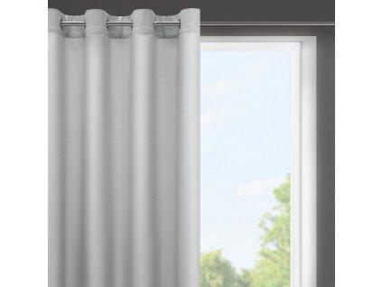 Dekorační krátký závěs s kroužky NIKY světle šedá 140x175 cm (cena za 1 kus) MyBestHome