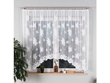 Dekorační oblouková krátká záclona MALTA 160 bílá 300x160 cm MyBestHome