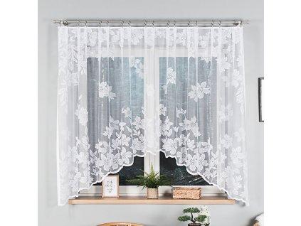 Dekorační oblouková krátká záclona PETUNIA 160 bílá 300x160 cm MyBestHome
