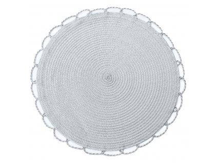 Prostírání kulaté TÝNKA světle šedá Ø 38 cm Mybesthome