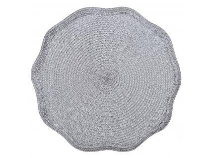 Prostírání kulaté OTELO šedá Ø 38 cm Mybesthome