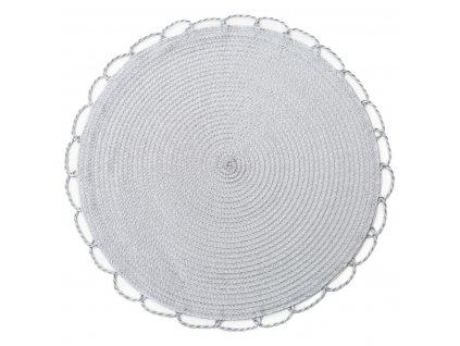 Prostírání kulaté TÝNKA stříbrná Ø 38 cm Mybesthome