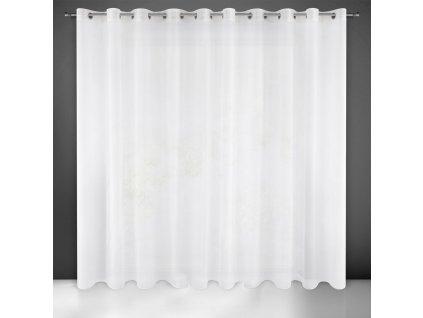Dekorační záclona na kroužky s leskem SYLVA 350x250 cm  MyBestHome