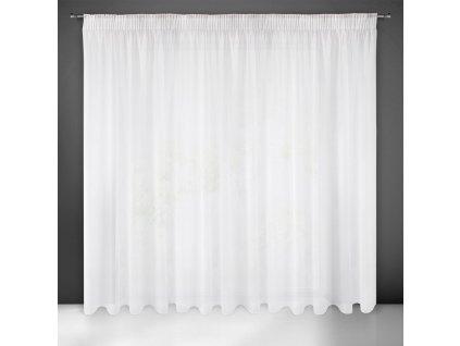Dekorační záclona s leskem s řasící páskou s tunýlkem SYLVA bílá 350x250 cm MyBestHome
