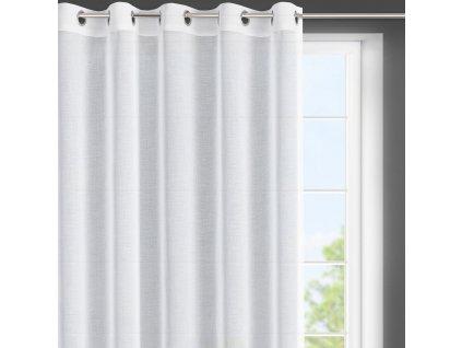 Dekorační krátká záclona s kroužky LENKA I. bílá 350x150 cm MyBestHome