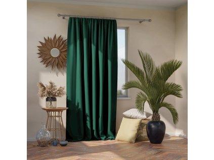 Dekorační závěs s řasící páskou zatemňující MONZA - BLACKOUT 140x270 cm zelená (cena za 1 kus) MyBestHome