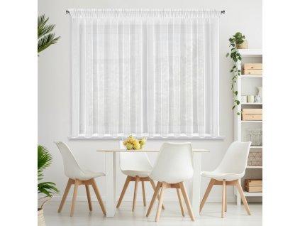 Dekorační záclona s leskem s řasící páskou s tunýlkem SYLVA bílá 350x150 cm MyBestHome