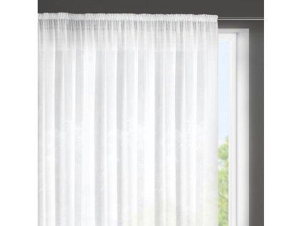 Dekorační krátká záclona s jemnou strukturou s řasící páskou ROMA bílá 350x160 cm MyBestHome