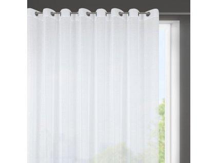 Dekorační krátká záclona s jemnou strukturou s kroužky MILANO bílá 400x150 cm MyBestHome