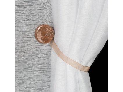 Dekorační ozdobná spona na závěsy s magnetem SWEN hnědá, Ø 4 cm Mybesthome