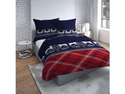 Povlečení WINTER I. 100% bavlna 200x220 cm, 2x povlak 70x80 cm francouzské povlečení MyBestHome