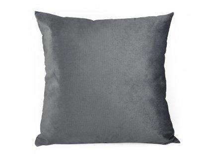 Dekorační polštář s výplní BRUNO 60x60 cm VELVET tmavě šedá Mybesthome