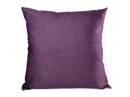 Dekorační polštář s výplní BRUNO 60x60 cm VELVET fialová Mybesthome