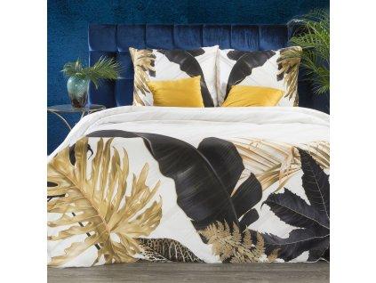 Luxusní povlečení  EVA 09 100% saténová bavlna 1x 200x220 cm, 2x povlak 70x80 cm francouzské povlečení