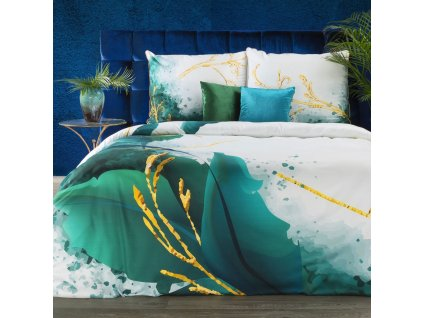 Luxusní povlečení  EVA 10 100% saténová bavlna 1x 200x220 cm, 2x povlak 70x80 cm francouzské povlečení