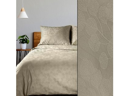 Povlečení DAMASCHEK 100% bavlna - damašek, béžová, 1x 200x220 cm, 2x povlak 70x80 cm francouzské povlečení MyBestHome