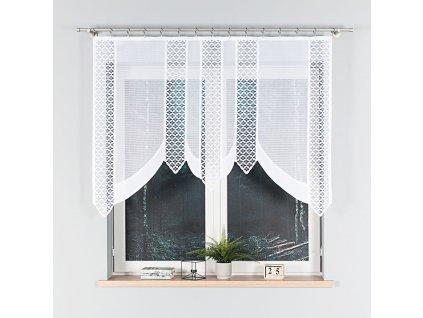 Dekorační oblouková krátká záclona BERBERA 160 bílá 160x120 cm MyBestHome