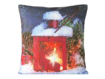 Polštář CHRISTMAS LIGHT 10 MyBestHome 40x40cm zimní motiv - svítící polštářek