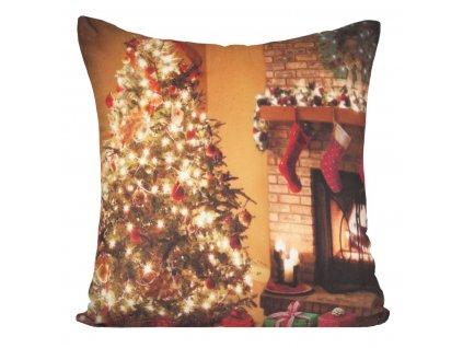 Polštář CHRISTMAS LIGHT 12 MyBestHome 40x40cm zimní motiv - svítící polštářek